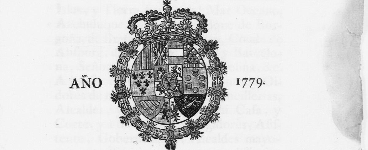 """Manuscript page with coat of arms from the """"Laws & Statutes: Agriculture, Conservation, Hunting and Fishing"""" project in the Spanish legal documents campaign."""