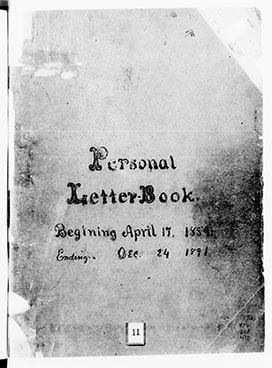Letterbooks: American Red Cross 1885-1891